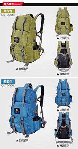 Zaini da escursionismo, Traspirante Spalla Zaino Viaggio Trekking Alpinismo Zaino Unisex Zainetto All'Aperto green 3