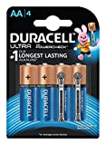 Duracell Ultra AA Battery with Duralock Technology - 4 Pieces