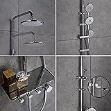 Desfau 3-Funktion Duschsystem mit Regal Regendusche Duschset Duscharmatur Dusche Rainshower inkl. Handbrause Überkopfbrause Brausestange Vergleich