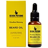 Beard Oil 30ml All Natural, Vegan, Organic. Manly Sweet and Woody Scented Beard Conditioning Oil That Makes a Man's Beard Soft & Stops Beard Itch. A Beard Softener With Jojoba Oil