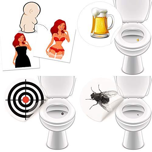 16 Urinal Aufkleber für mehr Hygiene Fliege Bullseye Bierglas + PinUp Girl