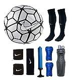 #9: RetailWorld Nike (Replica) Strike Silver Football combo Kit