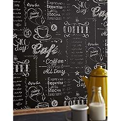 Tazza di Caffè Nero/Bianco Carta da parati