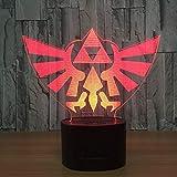 WoloShop LED Lampe The Legend of Zelda Triforce wechselt Farbe USB Nachtlicht