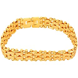 Glory Jewels Gold Nera Stylish Yo Yo Gold Plated Adjustable Bracelet For Men