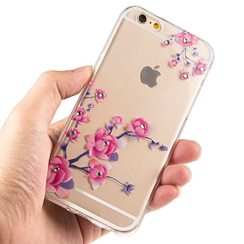 iPhone 7 Plus Coque Crystal Bling Bling,iPhone 7 Plus Silicone Case Slim Soft Gel Cover,iPhone 7 Plus Coque Silicone,iPhone 7 Plus Coque Transparente,iPhone 7 Plus Coque Ultra-Mince Etui Housse avec B TPU 61