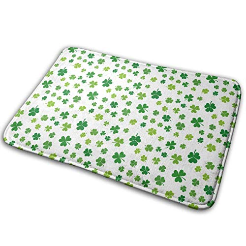 Bgejkos St. Patricks Day Lucky Shamrock Grün Anti-Rutsch-Mehltau-resistente antibakterielle Eingangsmatte