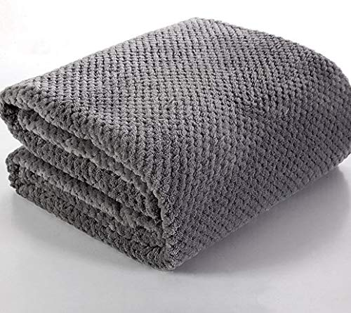 SaYes Wohndecke Kuscheldecke Decke Microfaser 160x200 200x220 Tagesdecke Ricky 280g/m2 (Grau, 160 x...