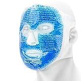 Masque Rafraichissant pour Visage - Pack de Gel pour les Maux de tête, la Peau, le Sommeil et un Pack de Glace pour les yeux gonflés, par Magic Gel