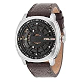 Police Herren Analog Quarz Uhr mit Leder Armband PL15239JS.02