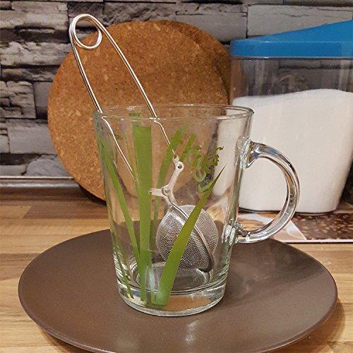 COM-FOUR® Tee Ei Sieb Teeei Teezange Teesieb für Teeliebhaber (Ø 4,5 – 2 Stück) - 3