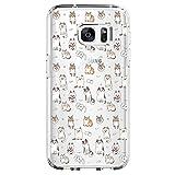 Beryerbi Weiche Hülle für Samsung galaxy S7 Transparente TPU Silikon Handyhülle für Damen/Mädchen Durchsichtig mit farbigen niedlichen Katzen Handyhülle Silikon Hülle (Samsung galaxy S7, color-5)