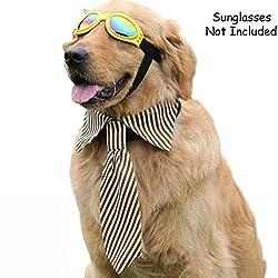 Bolbove Verstellbar Pet Hals Krawatte Halsband Streifen Durchzieh für Große Hunde, X-Large, Braun