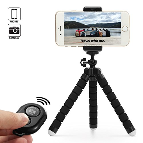 Dezuo 18cm Mini Trípode para Móvil, Smartphone, Cámara Digital, iPh