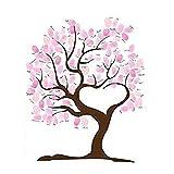 Tableau de signature et empreinte pour l'occasion du mariage avec la décoration d'arbre