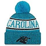 New Era American Football NFL Teamsport Winter Strickmütze Unisex Beanie Mütze, CAROLINA PANTHERS 7836, OSFM