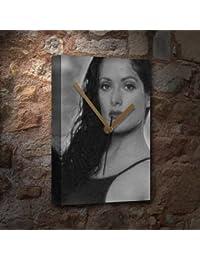 SEASONS Salma Hayek - Reloj de Lona (tamaño A3, firmada por el Artista)
