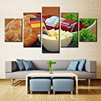 OLAJSDD Photos of bread food best wall art for kitchen decorations oil painting canvas