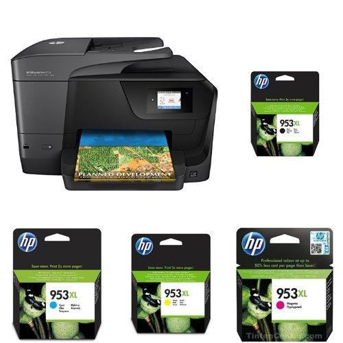 HP OfficeJet Pro 8710 Multifunktionsdrucker schwarz + HP 953XL Multipack