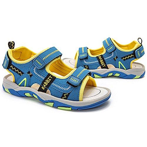 SITAILE Jungen Sommer Geschlossene Sandalen Outdoor Sports Schuhe Wanderschuhe Hellblau