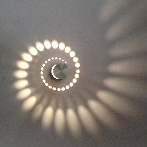 Freedom-vp Aluminium moderne 3W/5W/6W LED Wandleuchte Wandlampe Treppenbeleuchtung Nachttischlampen Raumbeleuchtung Flurlampe im Wohnzimmer Treppenhaus Schlafzimmer Badzimmer Bücherregal Licht Leuchte Lampe (Warmweiß-Typ1-3W) (Schlafzimmer Bücherregal Wohnzimmer)