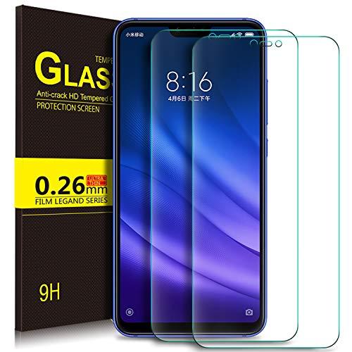Kugi. Screen Protector voor gehard glas voor Xiaomi Redmu 7 PRO, schermbeschermer [9H hardheid] Geschikt voor Xiaomi Mi Play (2 Pieces)