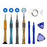 10pack Repair Tool Kit for iPhone 7 and Android Phone - Precision Magnetic Screwdriver Opening Pry Tools Set for iPhone 7/7 Plus/6 Plus/6S/6/5/5S/5C/5/4S/4 Plus iPod/iTouch by Feigo