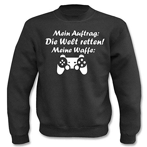 Pullover - Mein Auftag - Die Welt retten! Schwarz