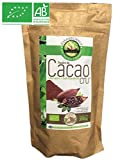 Kakaopulver stark entölt - Kakaopulver ohne Zucker - Kakaopulver Bio Vegan - Glutenfrei Kakao - Roh Kakao Criollo | 200g | Ecoidées