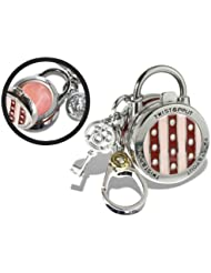 Twist and Pout Stripes and Dots Lock Charm with Pink Shimmer Gloss, Citrus, 1.4 Ounce by Twist and Pout