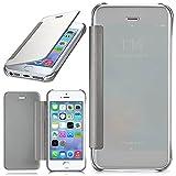 moex Apple iPhone 5S | Hülle Transparent TPU Void Cover Dünne Schutzhülle Silber Handyhülle für iPhone 5/5S/SE Case Ultra-Slim Handy-Tasche mit Sicht-Fenster