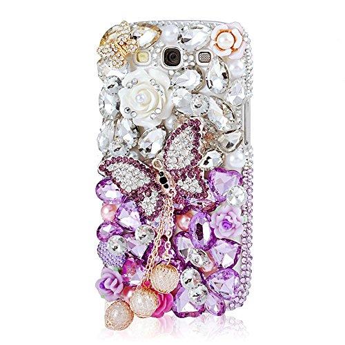 Strasssteine Diamant Bling Shining Glitter Transparent Protektiv Tasche Schutz Schale Harte Back Case Hülle Schutzhülle für Samsung Galaxy S3 I9300 T-Mobile T999 L710 Sprint/T999 T-Mobile/i747 AT&T/i535 Verizon (Samsung Att)
