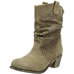 Andrea Conti1121551 - botas de caña baja con forro cálido y botines Mujer , color Marrón, talla 38
