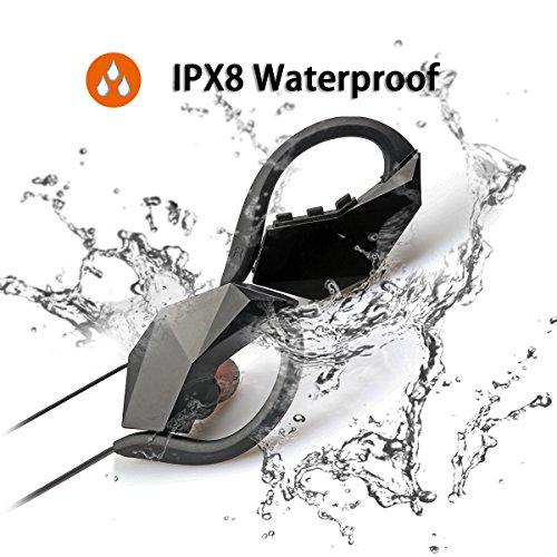 Auriculares Bluetooth Impermeables IPX8, con reducción de Ruido estéreo, inalámbricos, Resistentes al Sudor, con Memoria de 8 g, micrófono Integrado, función MP3 para natación