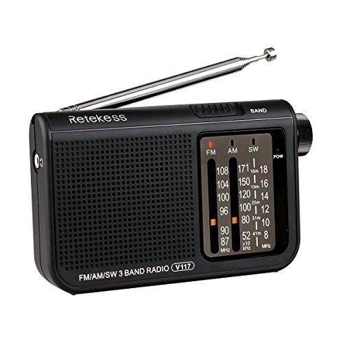 Retekess V117 AM FM SW 3 Band Po...