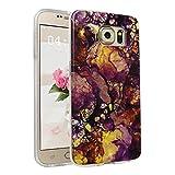 Handyhülle für Samsung Galaxy S6, Asnlove Ultra Dünn TPU Silikon Hülle Case Cover Marmor Motiv mit IMD Schale Backcover Tasche Schutzhülle für Samsung Galaxy S6 G920F, Braun