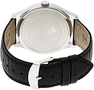 Lotus 15956/1 - Reloj de cuarzo para hombre, con correa de cuero, color negro de Lotus