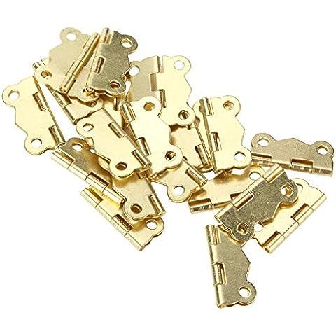20 piezas Mini de mariposa para cajones de armarios para Puerta Bisagra ligero