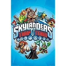 Póster de Skylanders Trap Team azul + enmienda