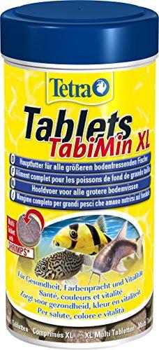 Tetra Tablets TabiMin XL (Futtertabletten für am Boden gründelnde Zierfische, für alle größeren bodenfressenden und scheuen Fische), 133 Tabletten Dose