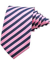 PenSee Mens Tie Silk Classical Stripes Neckties -Various Colors