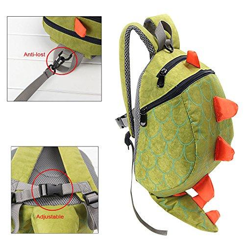Imagen de fristone  para niños / dinosaurio pequeña bebes guarderia bolsa con arneses de seguridad,verde alternativa
