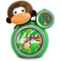 BabyZoo MoMo Monkey Sleeptrainer Clock - Green