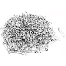 Dealglad Imperdibles metálicos pequeños de 19 mm, 1000unidades 19 mm plata