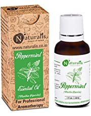 Naturalis Essence of Nature Peppermint Essential Oil 100% Undiluted Pure and Natural Therapeutic grade for Hair Growth, Skin, Face, Cold, Congestion, Pain & Diffuser - 30ml