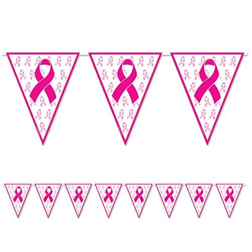 Pennant Banner, 27,9cm X 12', rosa/weiß ()