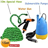 Piyuda New Portable Home And Car Electric Pressure Washer With Water Gun + 10m Special Hose Pipe + Submersible Pumps