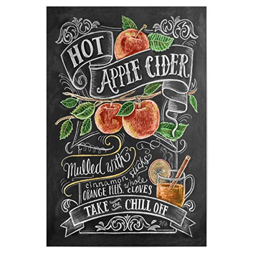 artboxONE Poster 30x20 cm Cocktails Typografie Hot Apple Cider hochwertiger Design Kunstdruck - Bild hot heiß Apple