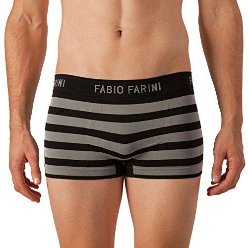 Fabio Farini 4er-Pack seamless Herren Boxershorts aus Microfaser set 32