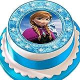 Frozen Anna Star Bordüre Birthday vorgeschnittenen Essbarer Zuckerguss Kuchen Topper Dekoration